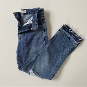 NWT Free People Cropped Distressed Jeans Size 24